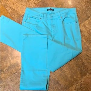 Eileen fisher turquoise jeans